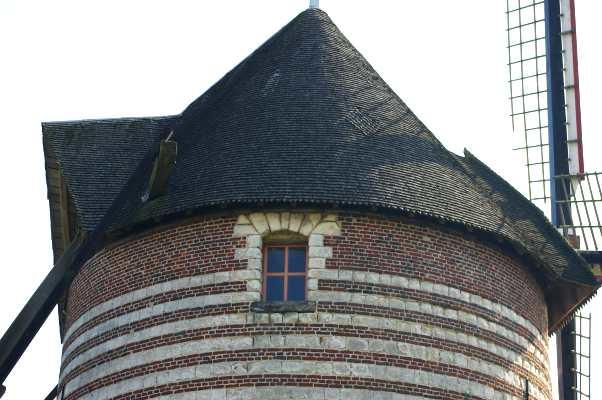 toiture du moulin buret mars 2009