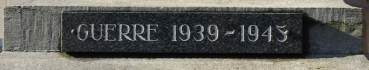 Plaque 39 45 monument de beuvry