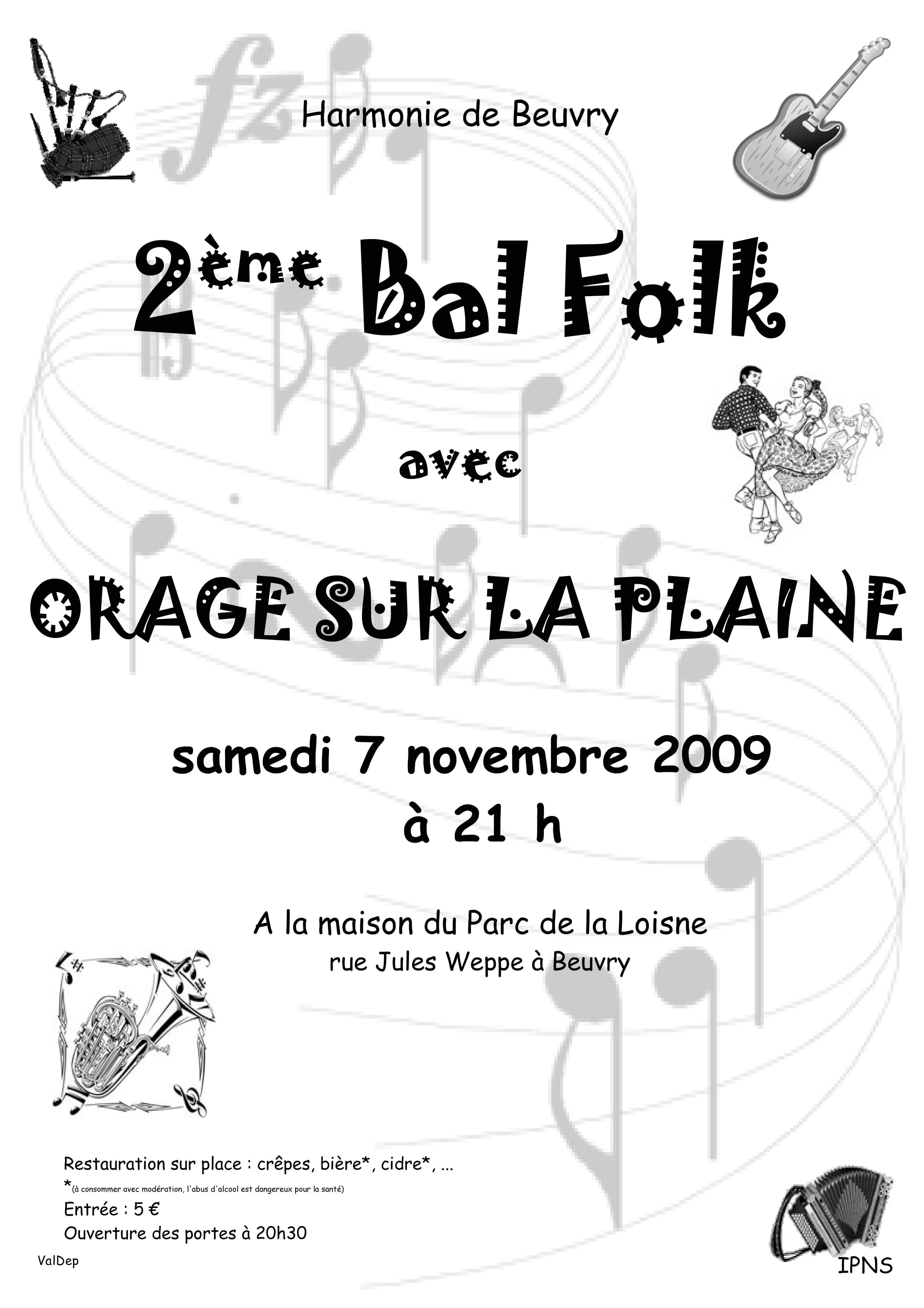 affiche bal folk beuvry 62660 harmonie de beuvry