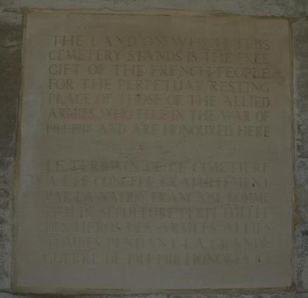 plaque cimetière militaire gorre 62660