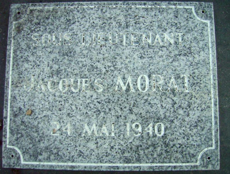plaque sous lieutenant morat Beuvry gorre