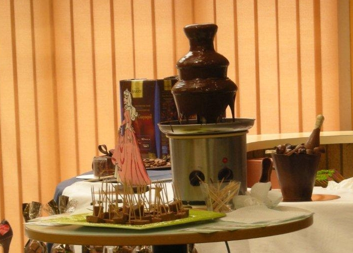 fontaine chocolat salon gastronomie