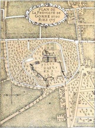 Histoire de Beuvry - la prévôté de Gorre dans Histoire plan1715