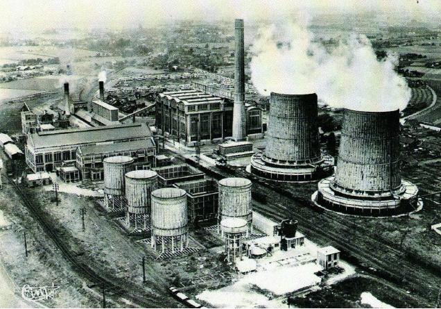 centrale électrique beuvry vue aérienne