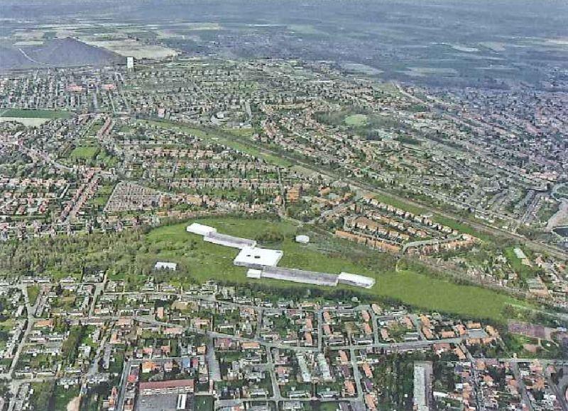 vue aérienne du bassin minier