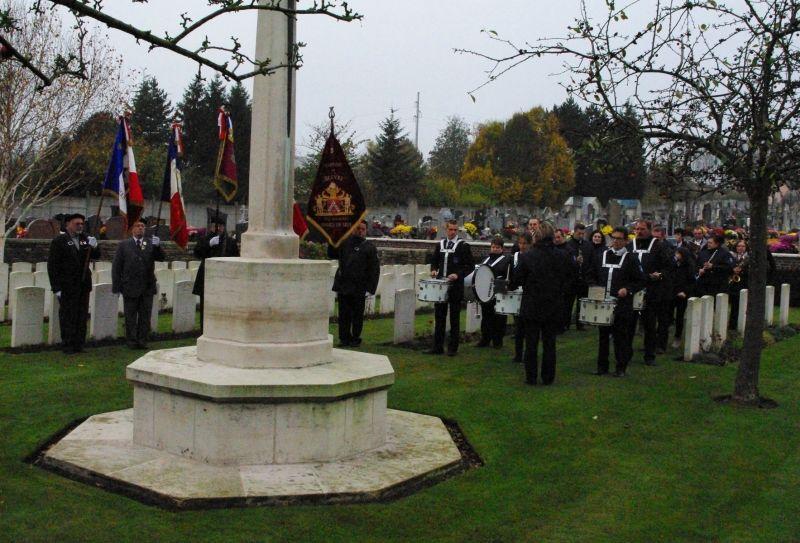 11 nov 2011 harmonie cimetière britanique beuvry 62