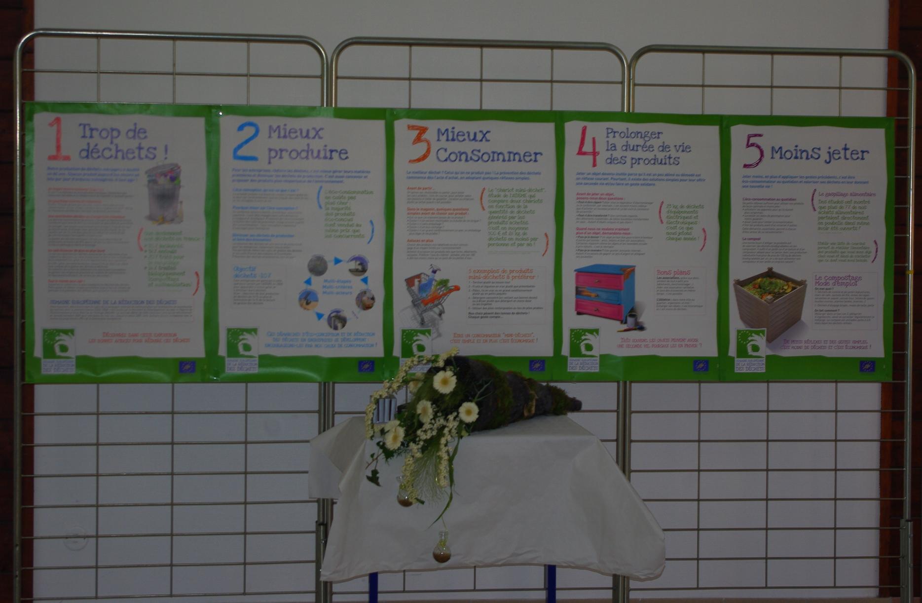 affiches et fleurs