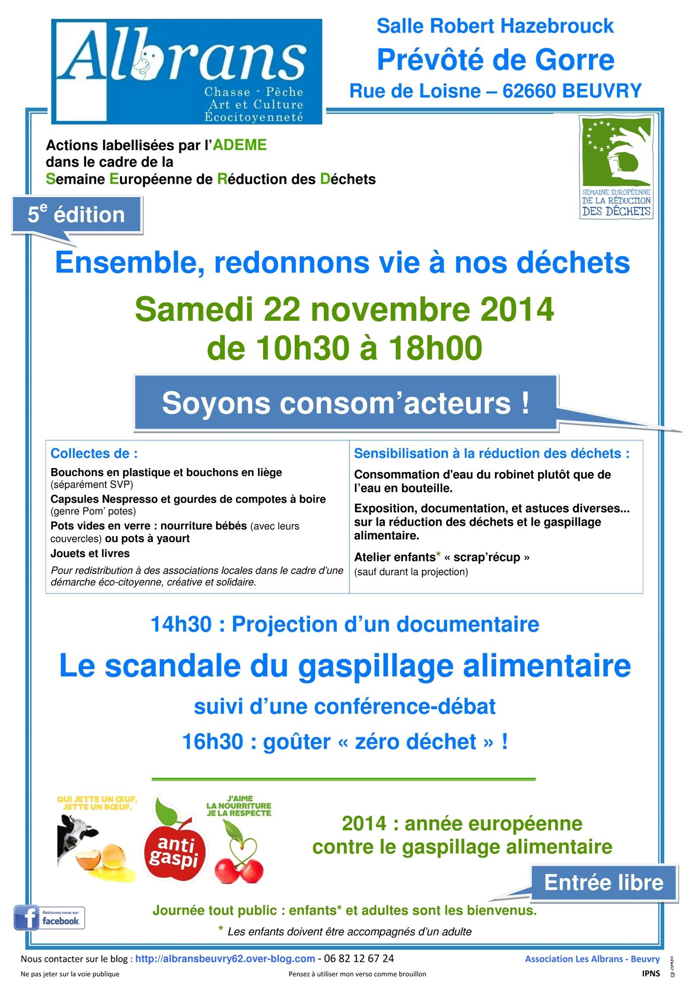 Actions dans le cadre de la Semaine Européenne de Réduction des Déchets dans Comprendre pour Agir affiche-reduction-des-dechets-2014